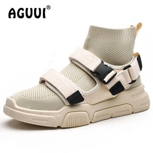 Wholesale Unique Design Sock Casual Shoes Men High Top Board Shoes Size Male Hasp Sneakers Homme
