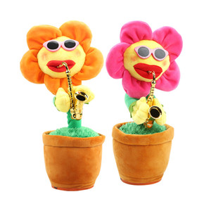 Wholesale Hot Enchanting Flower Musical Doll Funny Dancing Flower Sunflower Plush Toy Novelty Toy for Kids