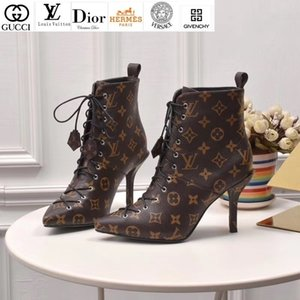 Wholesale Vvtisks6 Fashion Lace-up High Heel Ankle Boots Riding Rain Boot Boots Booties Sneakers Dress Shoes