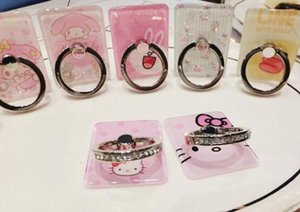 Wholesale Ring buckle creative crystal diamond stand cartoon universal ring simple
