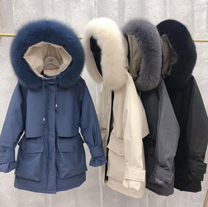 Wholesale New Fashion Designer Women Winter down Jacket Parka doudoune keep Warm Goose Down Coats luxury fur collar Thicken outdoor womans jackets