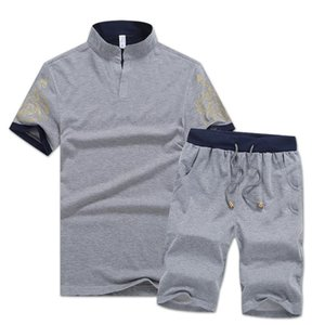 Wholesale Brand Designer Mens Tracksuits Summer T-shirt+Pant Sets Sportswear Fashion Sets Short Sleeve Jogger Tracksuits High Quality Plus Size