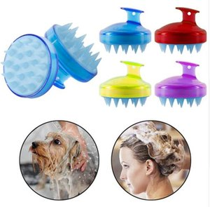 Shampoo Scalp Massage Brush Comfortable Silicone Hair Washing Comb Body Bath Spa Slimming Massage Brushes Personel Health