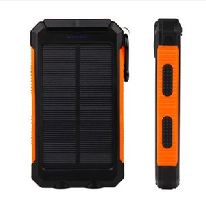 Wholesale GANSS mAh Solar Power Bank Waterproof Portable External Battery Solar PowerBank Charger with LED Flashlight Dual USB for Smart Phone