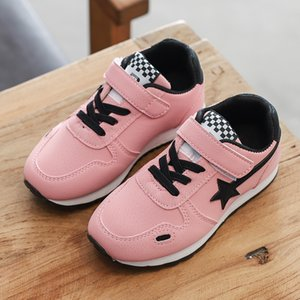 New Children's Children Toddler Girls Sport Boys Shoes Lights Kids 2019 Solid Bottom Casual Shoes Male Girl Walking Shoes Student Sneakers on Sale