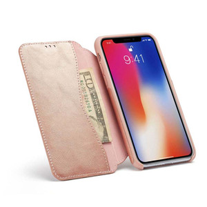 Wholesale book apple resale online - Magnet Case For iPhone X XS Flip Cover Luxury PU Leather Book Wallet case For Apple iPhone S Plus Phone Flip Cover for iphone XR
