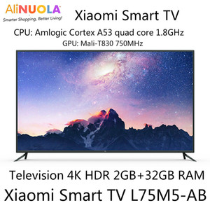 Wholesale Xiaomi Smart TV Inch Ultra thin Wireless AI Intelligence Voice Television K HDR Ultra HD Quality GB GB Dolby DTS English Menu