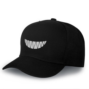 Wholesale Funny Halloween Visors Caps Woman Man Adjustable Hats Bone Black Night Light Baseball Caps Outdoor Sports Running Casquette