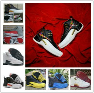 Wholesale Aair JORDAN Jumpman XII Flash Of Light Basketball Shoes For taxi High Quality Mens Retro Discoloration flu game Sports Sneakers khk