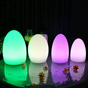 Wholesale Waterproof Egg Shape RGB Led Night Lamp USB Rechargeable Color Outdoor Led Bar KTV Table Lamp With Remote Controller