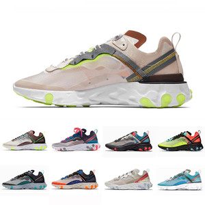 Wholesale Light Orewood Brown Undercover X React Element Mens Running Shoes for Men Women Red Orbit Orange Peel Black white Trainer Sports Sneakers