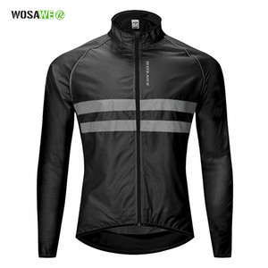 Cycling Windbreaker High Visibility Bicycle Jersey Road MTB Rain Coat Reflective Cycle Clothing Windproof Waterproof Bike Jacket on Sale