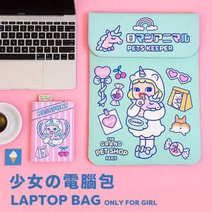 Wholesale Bentoy Milkjoy Girls Beauty Unicorn Handbag inch Travel Business Women Laptop bag Waterproof Velvet Mac ipad Case