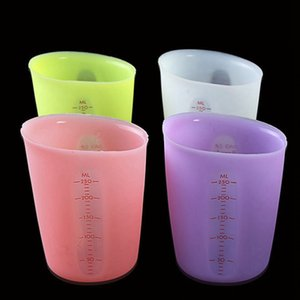 Wholesale Silicone Kitchen Measuring Cups ML Home Double scale Semi permeable Measuring Tools Milk Cup Cake Cooking Accessories TTA1115