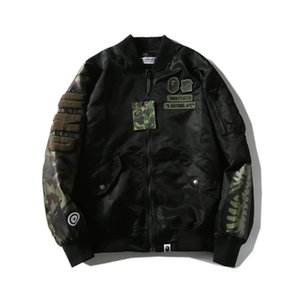 Wholesale Bape Mens Fashion Jackets Designer Men High Quality Spring And Autumn Jacket Youth Casual Jacket Black