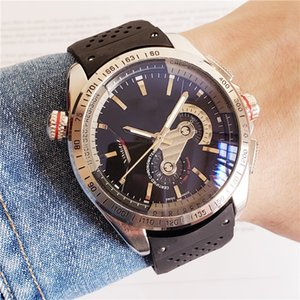 Wholesale Iced out watch mechanical men's watch DZ7333 leisure sports all functions can be operated PU belt free shipping...