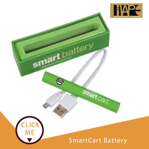 SmartCart Battery Green Smart Carts 380mAh Preheat Variable Voltage Bottom USB Charger Vape Pen Kit For 510 Thick Oil Cartridge