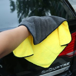 Wholesale 2pc Car Care Polishing Wash Towels Plush Microfiber Washing Drying Towel Strong Thick Plush Polyester Fiber Car Cleanin
