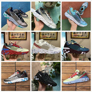 Wholesale React Element x Undercover Epic Royal Tint Anthracite Blue Chill Solar Red Black White Lakeside Orewood Orange Men Women Running Shoes AQ