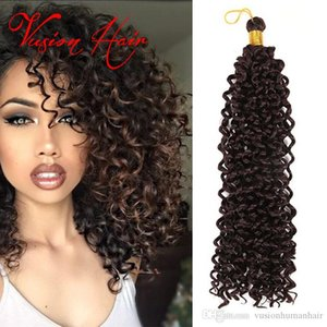 Wholesale Freetress Crochet Braiding Curly Hair Extensions inch roots pack Water Wave Bulk Hair Crochet Latch Hook Braiding Hair