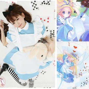 Wholesale COSPLAY Alice in Wonderland Super cute maid costume maid service COS anime costume costume with headband