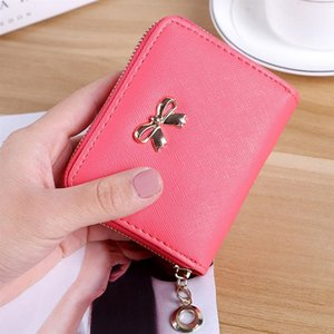 Wholesale Fashion Women Purse zip bow knot card holder Purse Casual Street Outdoor Solid purse wallet card holder gift wallet women #32212