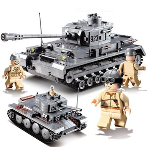 kazi KY82010 WW2 Germany Panzer IV F2 Tank Model PZKPFW Panzerkampfwagen 923 Military Building Block Toy Armored Forces Gift For Boy on Sale