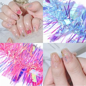 Wholesale glasses broken for sale - Group buy Irregular Broken Aurora Mirror Nail Art Foil Glass Paper Colorful Shimmer Nail Sticker Manicure Nail Art Decoration Decal Tools