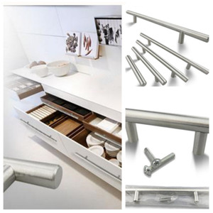 Wholesale handle cabinets for sale - Group buy Model T handles is suitable for door handle drawer handle wardrobe handles stainless steel shoe cabinet handle T2I5111