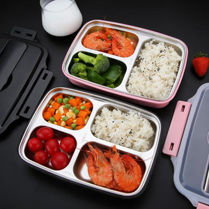 Wholesale lunch box kids for sale - Group buy 304 Stainless Steel Lunch Box With Tablewear Microwave Bento Box For Kids School Picnic Food Container
