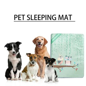 Wholesale New Pet Dog Cat Ice Silk Mat Summer Dog Breathable Blanket Golden Retriever Law Nesting Cat No Slip Bottom Comfortable Bed