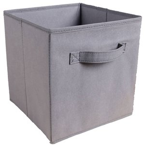 Wholesale Foldable Fabric Storage Box Square Bins Cloth Organizer Storage Baskets Folding Nursery Closet Drawer Features Dual Handles