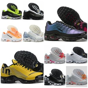 2019 Mercurial Plus Tn Ultra SE Black White Orange Running Shoes Air TN Plus Shoe Women Mens Chaussures Maxes OG Trainers Sports Sneakers on Sale