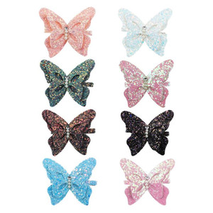 Wholesale Cute D Butterfly Hair Clips Girls Hairpin Head Buckle Hair Accessories