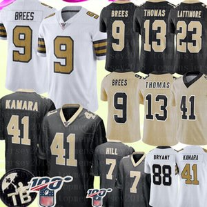 9 Drew Brees 41 Alvin Kamara New Orleans Saints Jersey 13 Michael Thomas 7 Taysom Hill 23 Marshon Lattimore Dez Bryant Football Jerseys on Sale