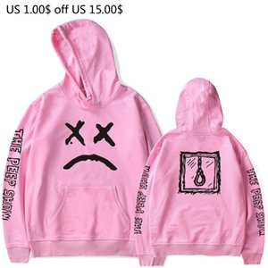 Wholesale cry baby for sale - Group buy Pink Hoodies Men Lil Peep Cry Baby Rapper Male Sweatshirts Hooded Pullover Casual Women Tracksuit Autumn Hoddies Coats Brands