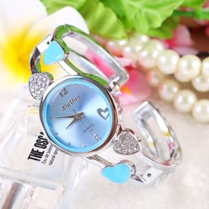 Wholesale Popular south Korean edition heart diamond chain watch trend line girl child table