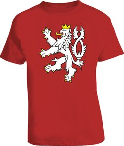 Wholesale Czech Republic Rampant lion T Shirt Cool Casual pride t shirt men Unisex New Fashion tshirt tops ajax