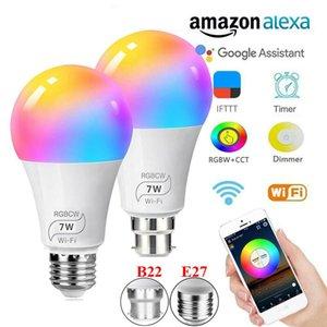 B22 E27 LED Smart Lamp WiFi Bulb 7W Smart Bulb Dimmable APP Remote Control Work With Amazon Alexa Google Home i Multicolor