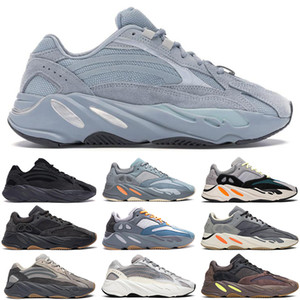 Wholesale kanye west V2 Hospital Blue men women running shoes teal m reflective Magnet Utility Black Inertia static mens trainers sports sneakers