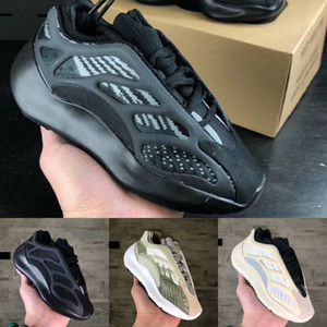 New Kids Shoes Kanye West V2 Wave Runner 700 V3 Running Shoes 700 Baby Girl Boy Clay Trainer Sneakers Children Athletic Shoes Black