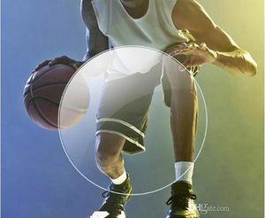 Polycarbnate-Sporty optical prescription lens lightweight Thin resin Aspheric Myopia for basket football UV400 Anti-Radiation free assembly