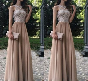 2020 Champagne White Empire Waist Party Homecoming Dresses Lace Sequins Beaded Ruched Chiffon Prom Elegant Evening Formal Dress Graduation on Sale