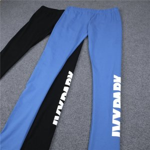 Wholesale Hot Ladies Beyonce IVY PARK Letters Print Breathable Stretch Long Pant Skinny Leggings Womens Athletic joggers