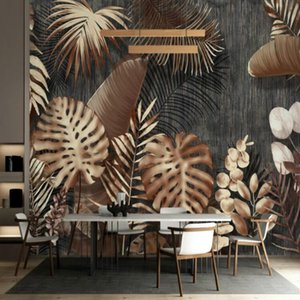 Modern minimalist retro light decorative painting Wallpapers Wall Custom Home Improvement Wall Paper Cloth 3D Wallpapers on Sale