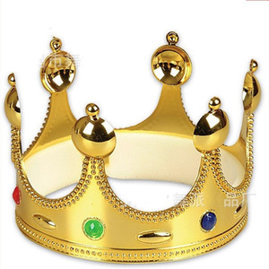 Wholesale Queens Crown Plastic Gold Silver Metal Colors Fashion Holloween Festive Supplies Caps Birthday Gifts Party Hats Hot Sale wpE1