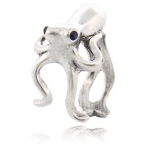 Wholesale Boho Chic Octopus Sea Animal Couple Ring For Women Anel sleeve fish Metal Wrap Ring Men Jewelry Best Gifts For Girls
