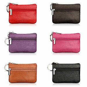 Women Men Faux Leather Coin Card Purse Wallet Clutch Zip Small Change Soft Bag on Sale