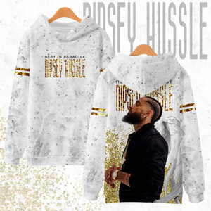 Wholesale NIPSEY HUSSLE Rip d Mens Hoodies Print Moleton Harajuku Casual Hip Hop Sweatshirt Hoodie Mens Street Wear Clothing Plus Size