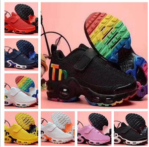 Wholesale top gym man resale online - Top TN Kids Running Shoes boy kid athletic best sports running shoes for men boots Boys girls walking gym jogging shoes online stores